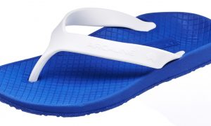 Archline Balance Orthotic Flip Flops Blue-White