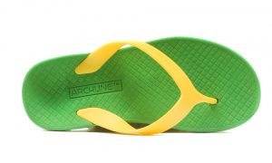 Archline Balance Orthotic Flip Flops Green-Gold - KIDS