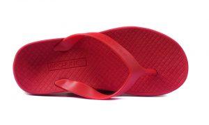 Archline Balance Orthotic Flip Flops Red-Red