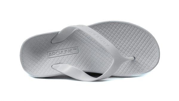 Archline Balance Orthotic Flip Flops White-White