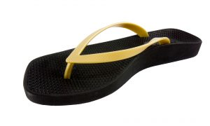 Archline Breeze Orthotic Flip Flops Black-Gold