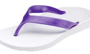 Archline Kids Orthotic Flip Flops White-Fuchsia - KIDS