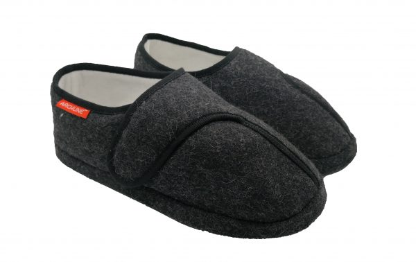 Archline Orthotic Slippers Closed Charcoal