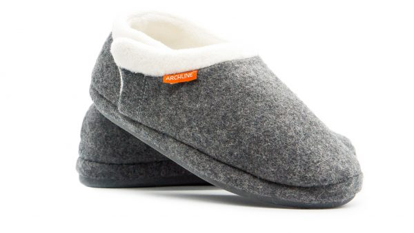 Archline Orthotic Slippers Closed Grey Marl