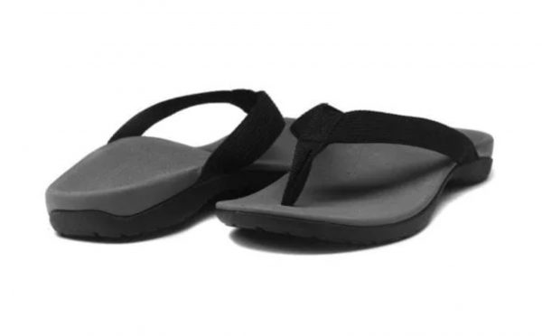 Axign Orthotic Flip Flops Grey with Black