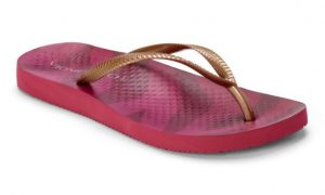 Vionic Beach NOOSA TOE POST SANDAL Berry Tiger Bronze