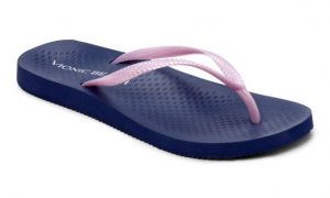Vionic Beach NOOSA TOE POST SANDAL Navy Lt Pink