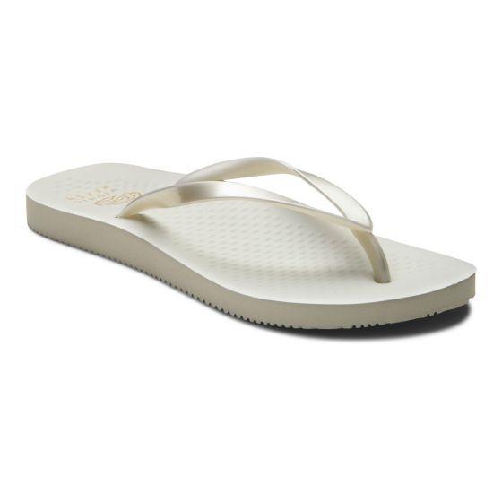 Vionic Beach NOOSA TOE POST SANDAL Pearl white